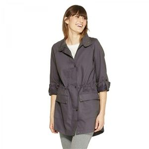 NWT A New Day Twill Anorak Jacket Small Gray